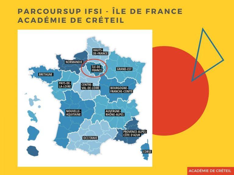 Parcoursup IFSI Académie de Créteil  Ile-de-France 2019
