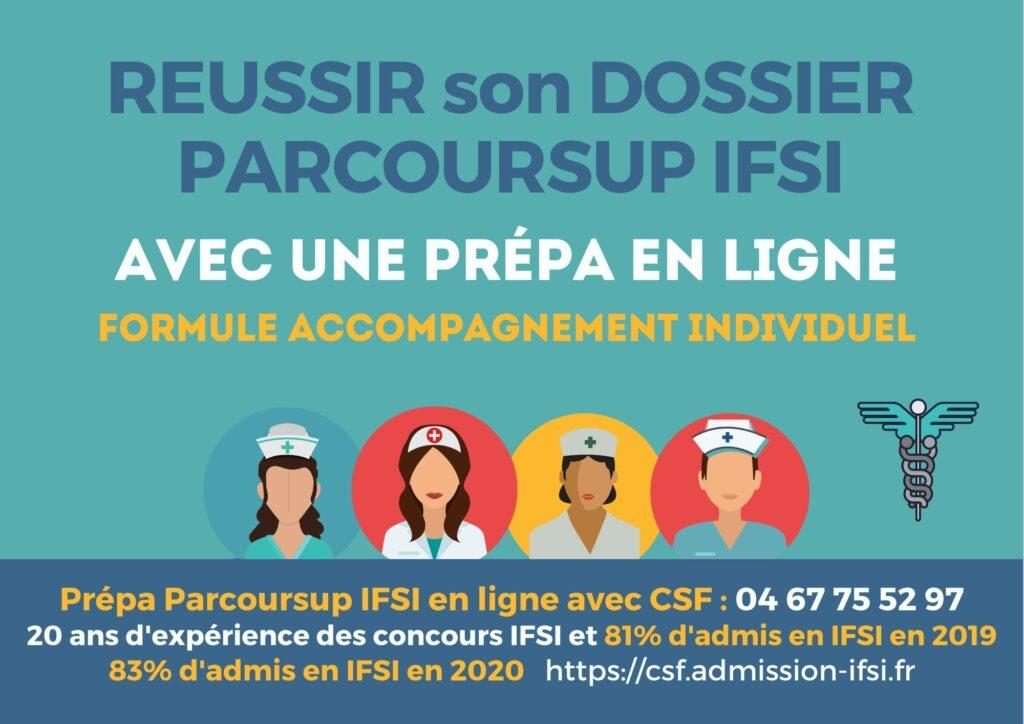 réussir son dossier parcoursup ifsi avec CSF en ligne accompagnement coaching